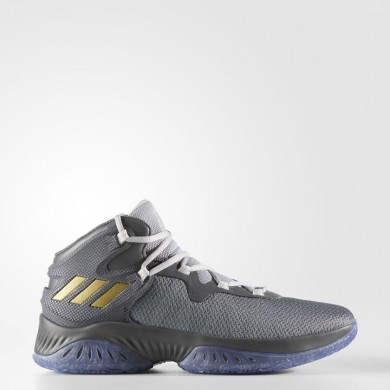 quality design b904d be27a Baloncesto Adidas Explosive Bounce Zapatillas Hombre Gris Four   Oro  Metalic   Gris Two BY4466