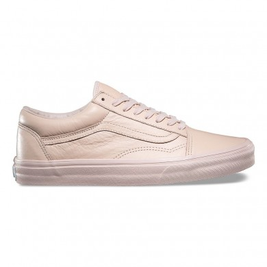 Hombre Vans Leather Old Skool Zapatos Mono / Sepia Rose