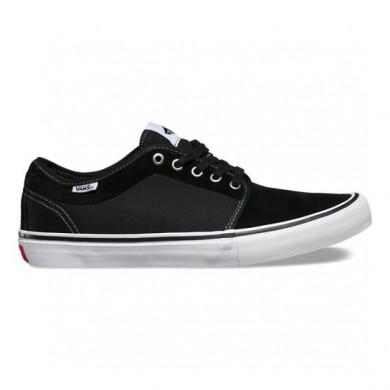 Hombre Vans Chukka Low Pro Zapatos Negro / Blancas