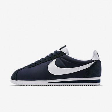 Zapatillas Nike Classic Cortez Nylon Mujer/Hombre 807472-410 Obsidiana / Blancas