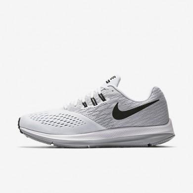 Zapatillas de running Nike Zoom Winflo 4 Hombre 898466-100 Blancas / Wolf Gris / Negro