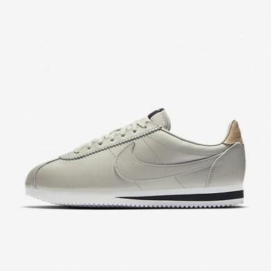 Hombre Nike Classic Cortez Leather SE Zapato 861535-005 Pale Gris / Negro / Vachetta Tan / Pale Gris