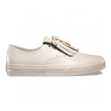 Vans Leather Authentic Fringe DX Zapatos Mujer Whisper Fucsia / Oro
