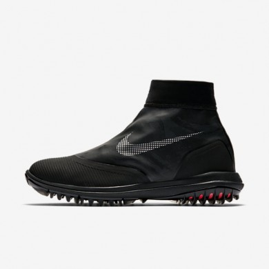 Hombre Nike Lunar VaporStorm Zapatillas de golf 918622-001 Negro / Solar Rojo / Reflect Plata
