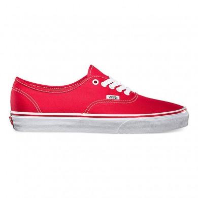 Hombre Vans Authentic Zapatillas Rojo