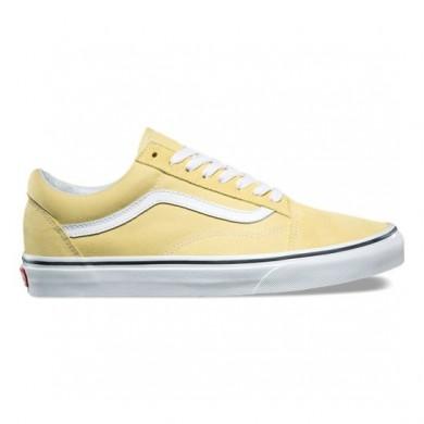 Vans Old Skool Zapatos Hombre Dusky Citron / True Blancas