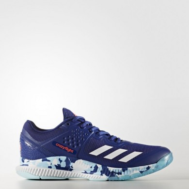 Mujer Adidas Volleyball CrazyfLigero Bounce Zapatillas Mystery Ink / Ftwr Blancas / Icey Azul BY2449