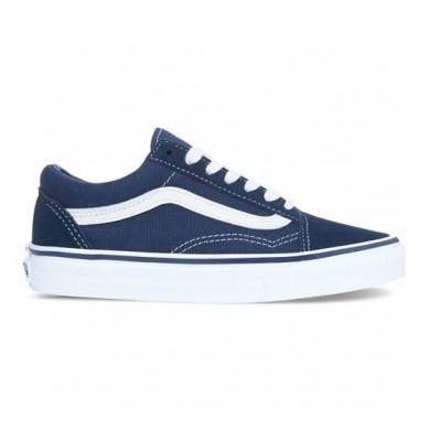 Hombre Vans Old Skool Zapatillas Vestido Azul / True Blancas