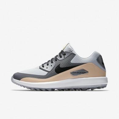 Zapatillas de golf Nike Air Zoom 90 IT NGC 904770-001 Wolf Gris / Gris oscuro / Vachetta Tan / Negro