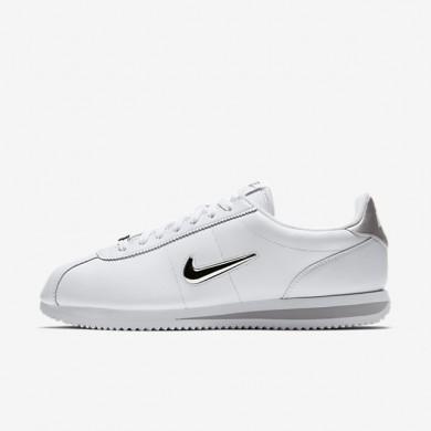Zapatillas Hombre Nike Cortez Basic Jewel 833238-101 Blancas / Metallic Plata