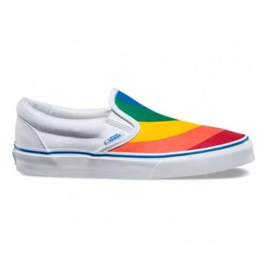 Vans Rainbow Classic Slip-On Zapatillas (Rainbow) True Blancas 8F79NK Mujer