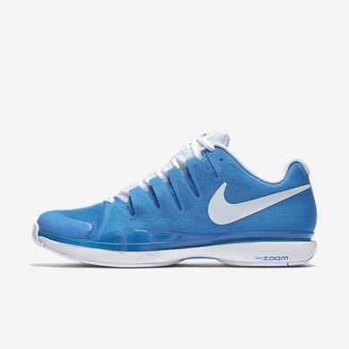 Hombre NikeCourt Zoom Vapor 9.5 Tour Zapatillas de tenis 631458-404 Ligero Photo Azul / Blancas