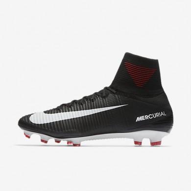 Botas de fútbol Nike Mercurial Superfly V FG de suelo firme Hombre Mujer 831940-002 Negro / Gris oscuro / Blancas