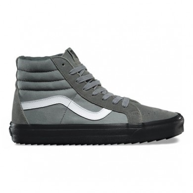 Vans SK8-Hi Reedición Wafflesaw DX Zapatos Mujer Castor Gris / Negro