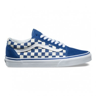 Vans Primary Check Old Skool Zapatos Hombre True Azul / Blancas