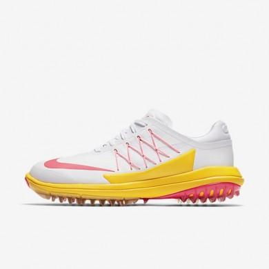 Zapatillas de golf Mujer Nike Lunar Control Vapor 849979-102 Blancas / Laser Naranja / Solar Rojo
