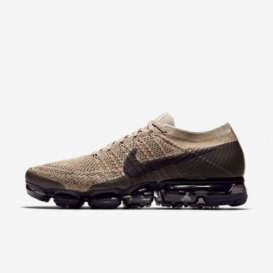 Zapatillas de running Nike Air VaporMax Flyknit Hombre 849558-201 Caqui / antracita / Gris pálido / negro