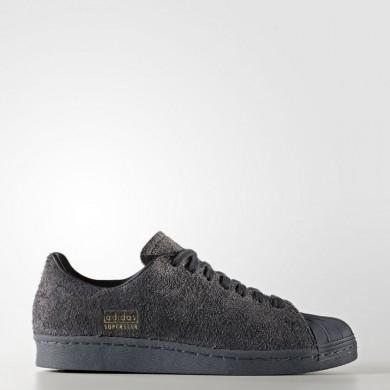 Hombre Mujer Adidas Originals Superstar 80s Clean Zapatillas Utility Negro / Utility Negro / Gris Five