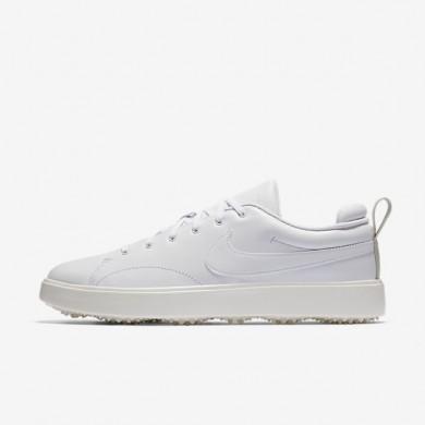 Hombre Nike Course Classic Zapatillas de golf 905232-100 Blancas / Sail / Negro / Blancas