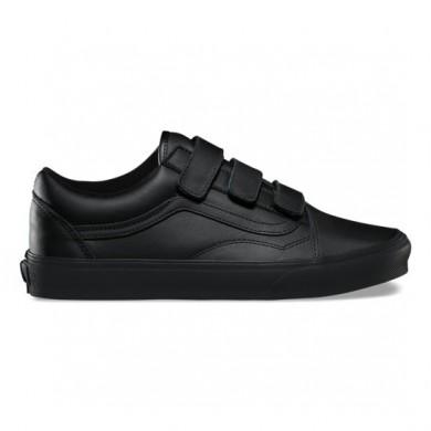 Vans Mono Cuero Old Skool Zapatos Hombre Negro