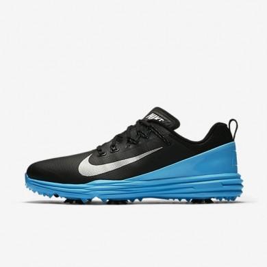 Zapatillas de golf Nike Lunar Command 2 Hombre 849968-004 Negro / Azul Fury / Metallic Plata
