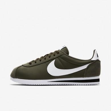 Zapatillas Nike Classic Cortez Nylon Mujer/Hombre 807472-300 Carga Khaki / Negro / Blancas