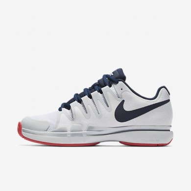 Zapatillas de tenis NikeCourt Zoom Vapor 9.5 Tour Mujer 631475-164 Blancas / Pure Platinum / Solar Rojo / Binary Azul