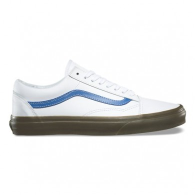 Vans Bleacher Old Skool Zapatillas Hombre True Blancas / Delft / Gum