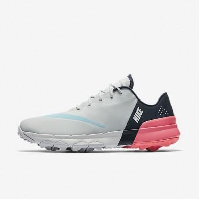 Zapatillas de golf Nike FI Flex Mujer 849973-001 Pure Platinum / Midnight Azul marino / Racer Fucsia / Vivid Sky