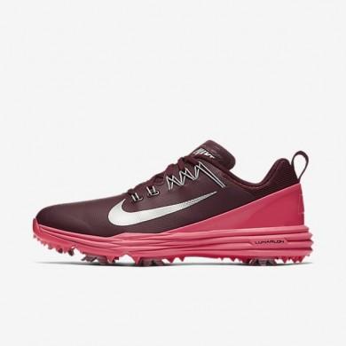 Zapatillas de golf Mujer Nike Lunar Command 2 880120-600 Burdeos / Hyper Fucsia / Wolf Gris / Metallic Plata