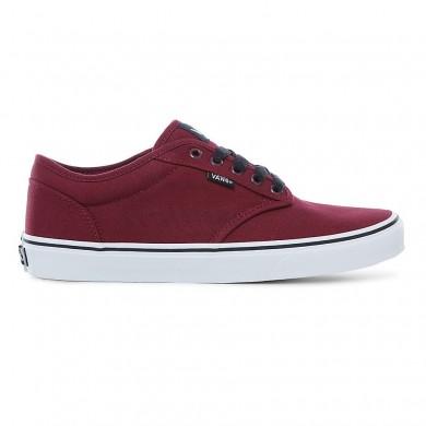 Hombre Vans Atwood Zapatos Oxblood / Blancas