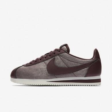Zapatillas Nike Classic Cortez Premium Mujer Metallic Mahogany / Summit Blancas / Mahogany / Metallic Caoba 905614-900