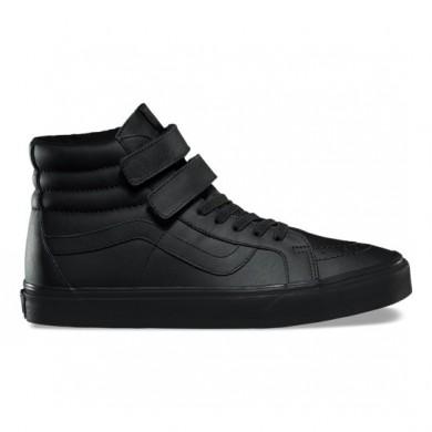 Vans Mono Cuero SK8-Hi Reedición V Zapatos Mujer Negro