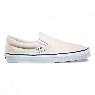 Mujer Vans Slip-On abedul / verdadero Blancas