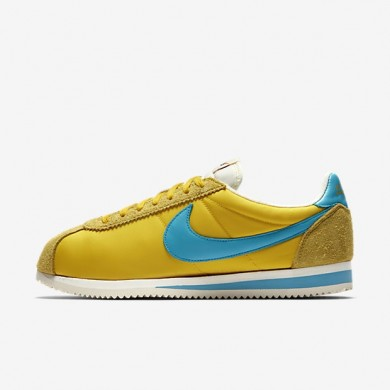 Zapatillas Hombre Nike Classic Cortez Nylon KM QS AH7853-700 Tour Amarillo / Sail / Chlorine Azul