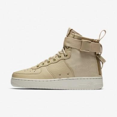 Zapatillas Nike SF Air Force 1 Mid Mujer AA3966-200 Champiñones / Ligero Bone / Mushroom
