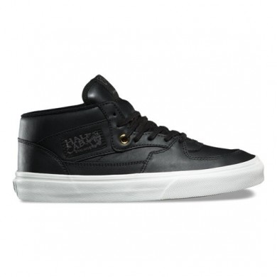 Vans Leather Half Cab DX Zapatos Mujer Negro / Oro