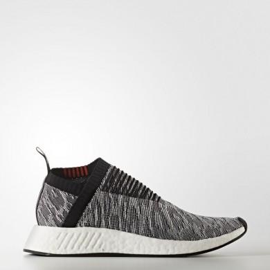 Adidas Originals NMD_CS2 Primeknit Zapatos Mujer Hombre Gris / Core Negro / Core Negro / Future Harvest BZ0515