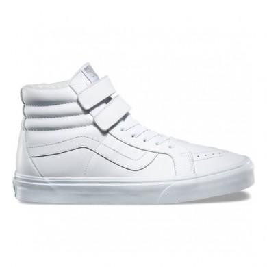 Vans Mono Cuero SK8-Hi Reedición V Zapatos Mujer True Blancas