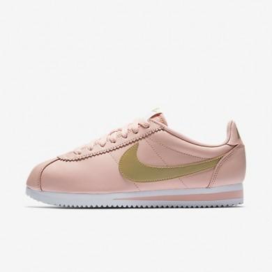 Zapatillas Mujer Nike Classic Cortez 807471-800 Arctic Naranja / Blancas / Metallic Oro