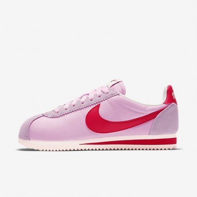 Zapatillas Nike Classic Cortez Nylon Premium Mujer 882258-601 Perfecta Fucsia / Sail / Sport Rojo
