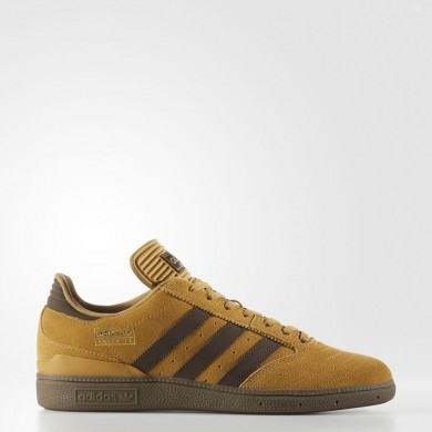 Hombre Adidas Originals Zapatos Busenitz Mesa / Marrón / Oro Metalic BY3966