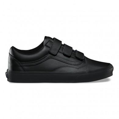 Vans Mono Cuero Old Skool Zapatos Mujer Negro