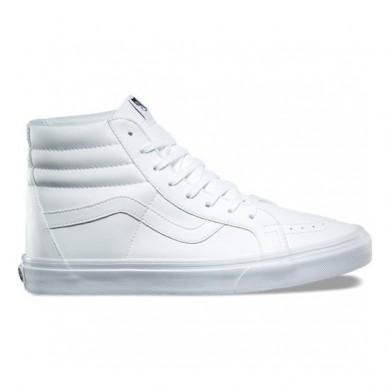 Hombre Vans Classic Tumble SK8-Hi Reedición Zapatos True Blancas