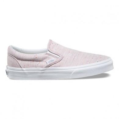 Vans Speckle Jersey Slip-On Mujer Fucsia / true Blancas