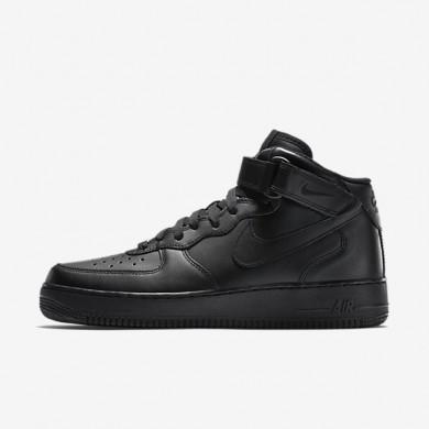 Zapatillas Nike Air Force 1 Mid '07 Hombre 315123-001 Negro / Negro / Negro