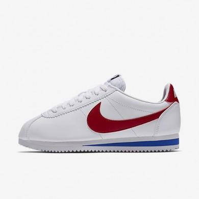Zapatillas Nike Classic Cortez Mujer 807471-103 Blancas / Varsity Royal / Varsity Rojo