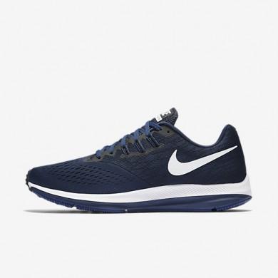 Hombre Nike Zoom Winflo 4 Zapatillas de running 898466-400 Binario Azul / Negro / Deep Royal Azul / Blancas
