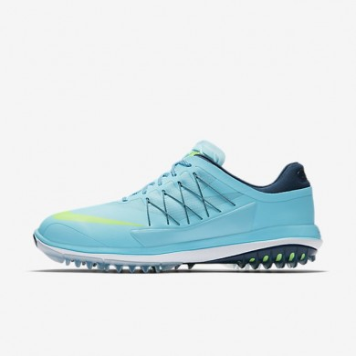 Hombre Nike Lunar Control Vapor Zapatillas de golf 849971-400 Vivid Sky / Midnight Azul marino / Blancas / Ghost Verde