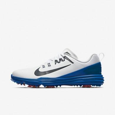 Zapatillas de golf Hombre Nike Lunar Command 2 849968-103 Blancas / Azul Jay / Solar Rojo / Armory Azul marino